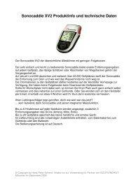 Sonocaddie XV2 Produktinfo und technische Daten
