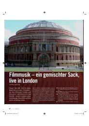 Filmmusik – ein gemischter Sack, live in London - Tobias van de Locht