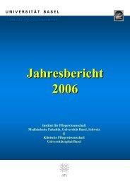Jahresbericht 2006 - Universitätsspital Basel