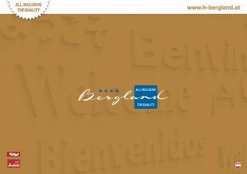 Imageprospekt - Hotel Bergland