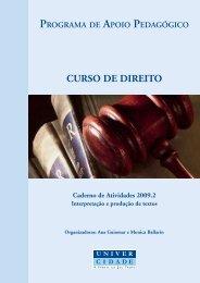 Curso de direito - UniverCidade