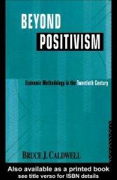 Beyond Positivism: Economic Methodology in the Twentieth Century ...