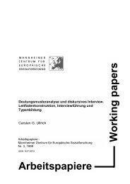 empirische Sozialforschung - MZES