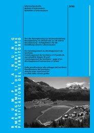 Bulletin d'information - Raumentwicklung