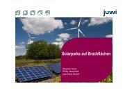 juwi Solar GmbH: Solarparks auf Brachflächen - ThEGA