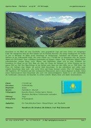 Kasachstan ist mit Blick auf seine Geschichte, seine geografische ...