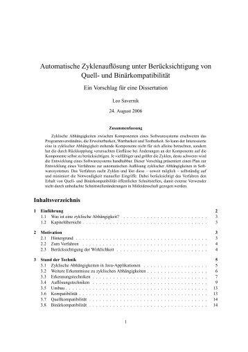 Automatische Zyklenauflösung unter Berücksichtigung von Quell ...