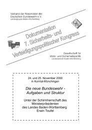 und Verteidigungspolitischer Kongress 2000 in Korntal-Münchingen