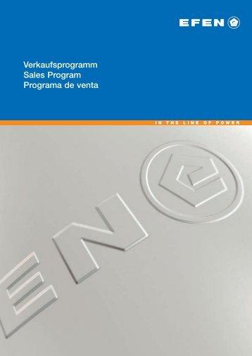 Verkaufsprogramm Sales Program Programa de venta - EuroVolt