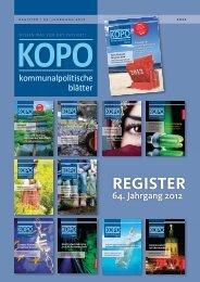 REGISTER - Kopo - kommunalpolitische blätter