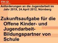 Schule - Jugendarbeit in Mittelfranken