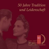 50 Jahre Tradition und Leidenschaft - HEINI Conditorei AG