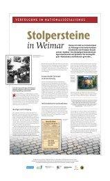 VERFOLGUNG IM NATIONALSOZIALISMUS - Lernort Weimar