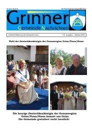 Grinner Gemeinde Nachrichten (0 bytes) - Grins - Land Tirol