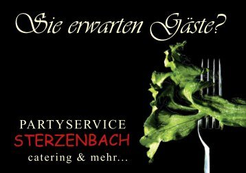 Prospekt - Partyservice Sterzenbach Tel.