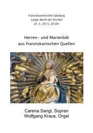 Franziskanerkirche Salzburg am 25. 5. 2013 - Musikland Tirol