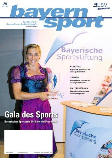 bayernsport Magazin 2010 Nr.29 - Bayerische Sportstiftung