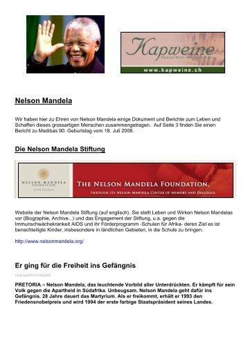 Nelson Mandela - KapWeine