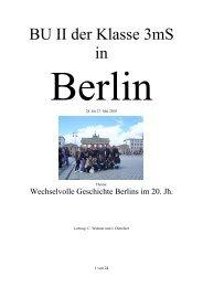Berlinbericht - besser wissen