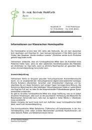Informationen zur Klassischen Homöopathie - bei Dr. med. Gerlinde ...