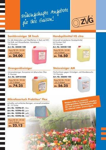 Frühlingshafte Angebote für Ihre Saison - ZVG Zellstoff-Verarbeitung ...