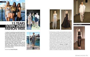 15 years down under fashion week