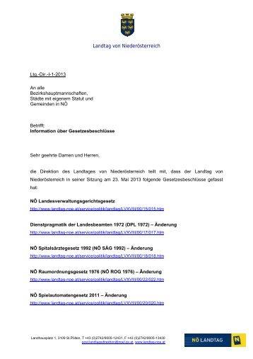Landtag von Niederösterreich - NetTeam Internet