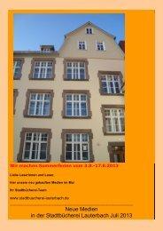 Neuerwerbungen Juli 2013 - Stadt Lauterbach