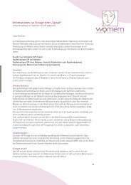 Information IUP-Einlage - Womem