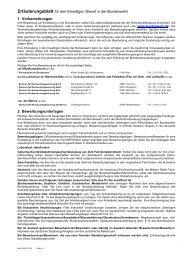 Erläuterungsblatt zum Bewerbungsbogen für den freiwilligen Dienst