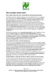 Öko-Landbau leistet mehr! - Naturland