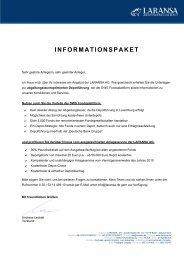 INFORMATIONSPAKET - LARANSA AG
