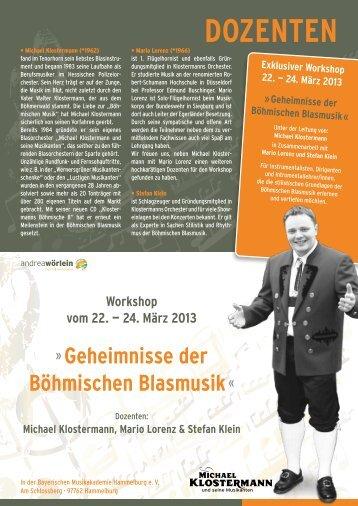 DOZENTEN - Michael Klostermann und seine Musikanten