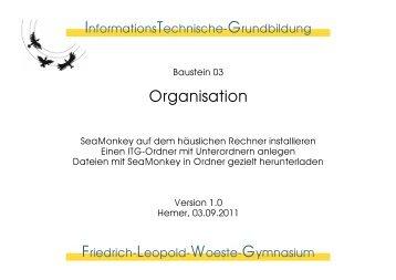 Organisation - Öffentliches Materialdepot des Friedrich-Leopold ...