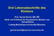 3 Lebensabschnitte des Rückens - Rheuma Schweiz