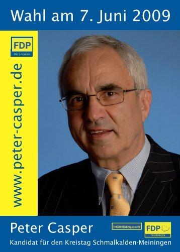 Wahl am 7. Juni 2009 - Peter Casper Online