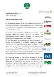 Pressemitteilung 32 - SC DHfK Leipzig eV
