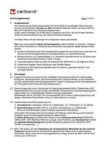 Schulungskonzept - Carbonit Filtertechnik GmbH