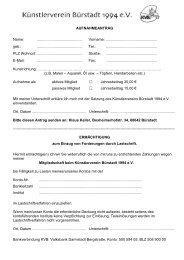Zum pdf-Aufnahmeantrag - Künstlerverein Bürstadt 1994 e.V.