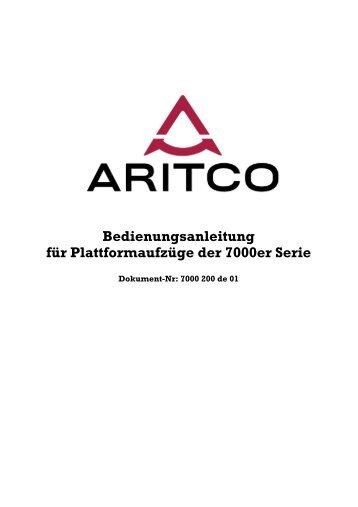 Bedienungsanleitung Aritco 7000er Serie