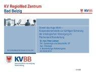 KV RegioMed Zentrum Bad Belzig
