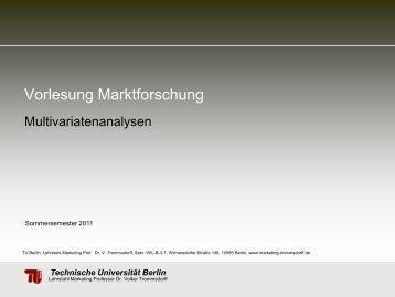 Multivariatenanalysen (PDF, 976,1 KB) - TU Berlin