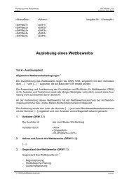 Auslobung eines Wettbewerbs - und Hochbauverwaltung Baden ...