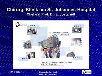 Darmkrebs - St.-Johannes-Hospital