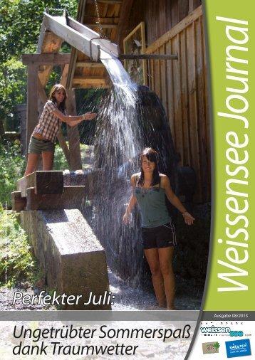 Ungetrübter Sommerspaß dank Traumwetter - Weissensee