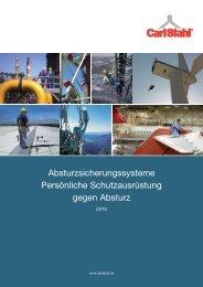 Absturzsicherungssysteme PSA 2010 - Carlstahl-nordgreif.com