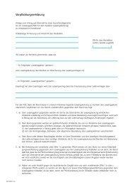 Verpflichtungserklärung als Anlage zum Antrag auf ... - AGA-Portal