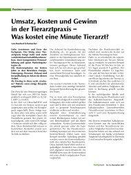 Umsatz, Kosten und Gewinn in der Tierarztpraxis - Kleintierpraxis ...