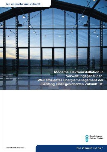 Moderne Elektroinstallation in Verwaltungsgebäuden. Weil ...