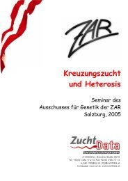 Kreuzungszucht und Heterosis - Zentrale Arbeitsgemeinschaft ...